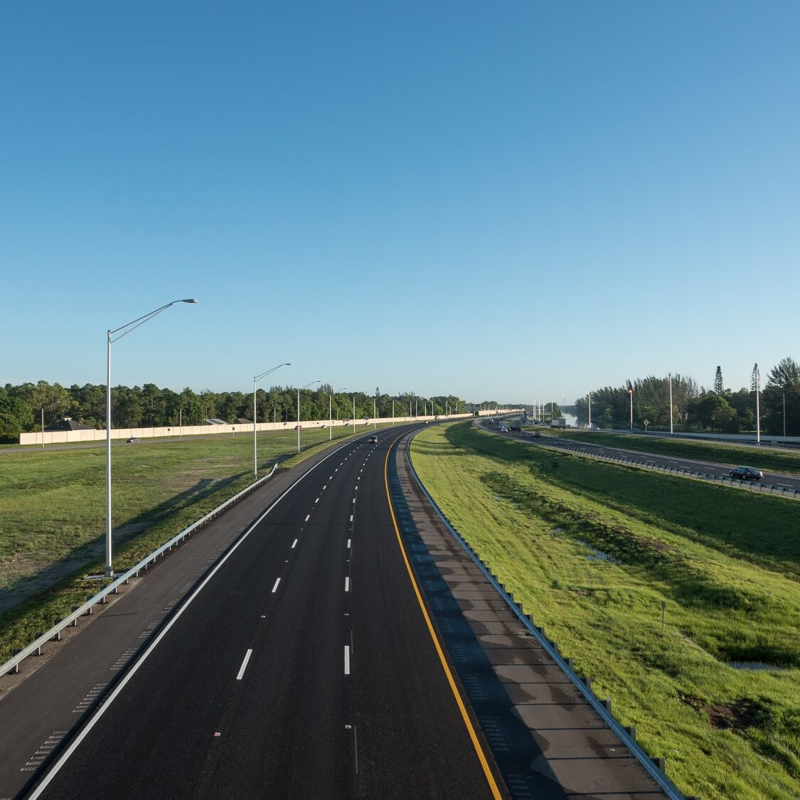 Florida I-75 Southbound from Golden Gate Bridg